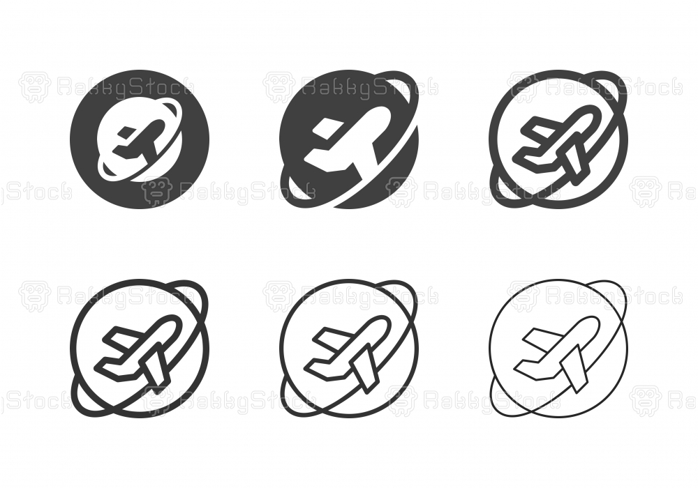 Air Travel Icons - Multi Series