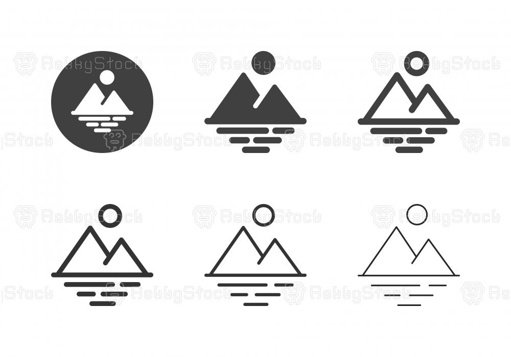 Landscape Scenery Icons - Multi Series