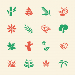Plant Icons - Color Series | EPS10