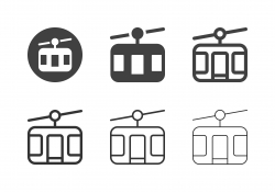 Cable Car Icons - Multi Series