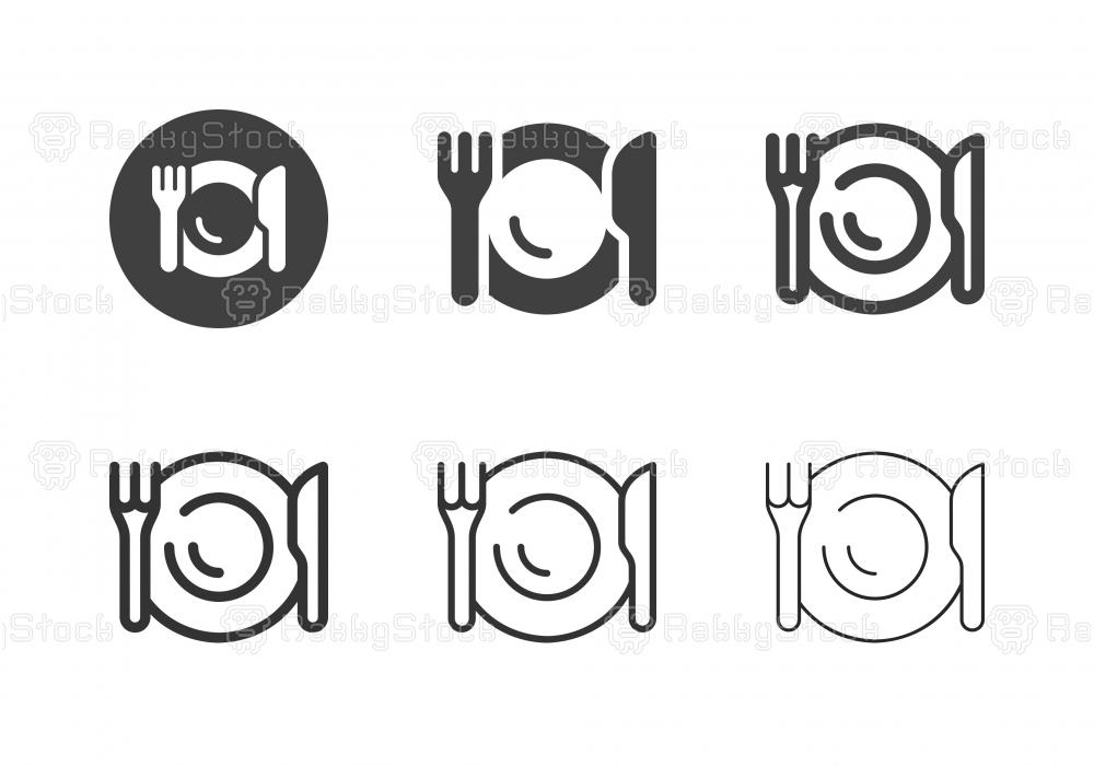 Eating Utensil Icons - Multi Series