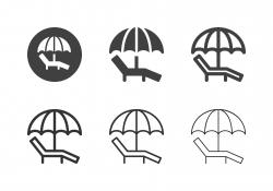 Sunbed Icons - Multi Series