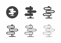 Direction Road Sign Icons - Multi Series