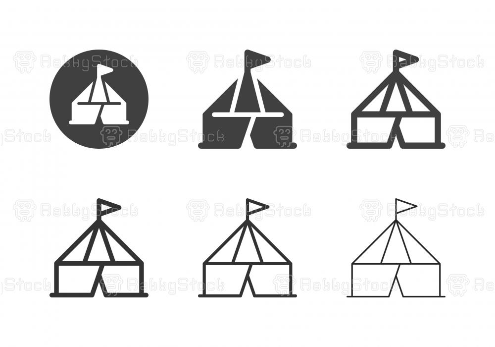 Circus Tent Icons - Multi Series