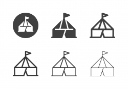 Circus Tent Icons - Multi Series