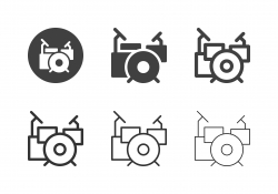 Drum Set Icons - Multi Series