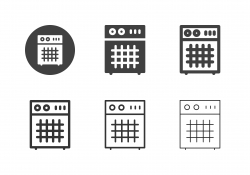 Guitar Amplifier Icons - Multi Series