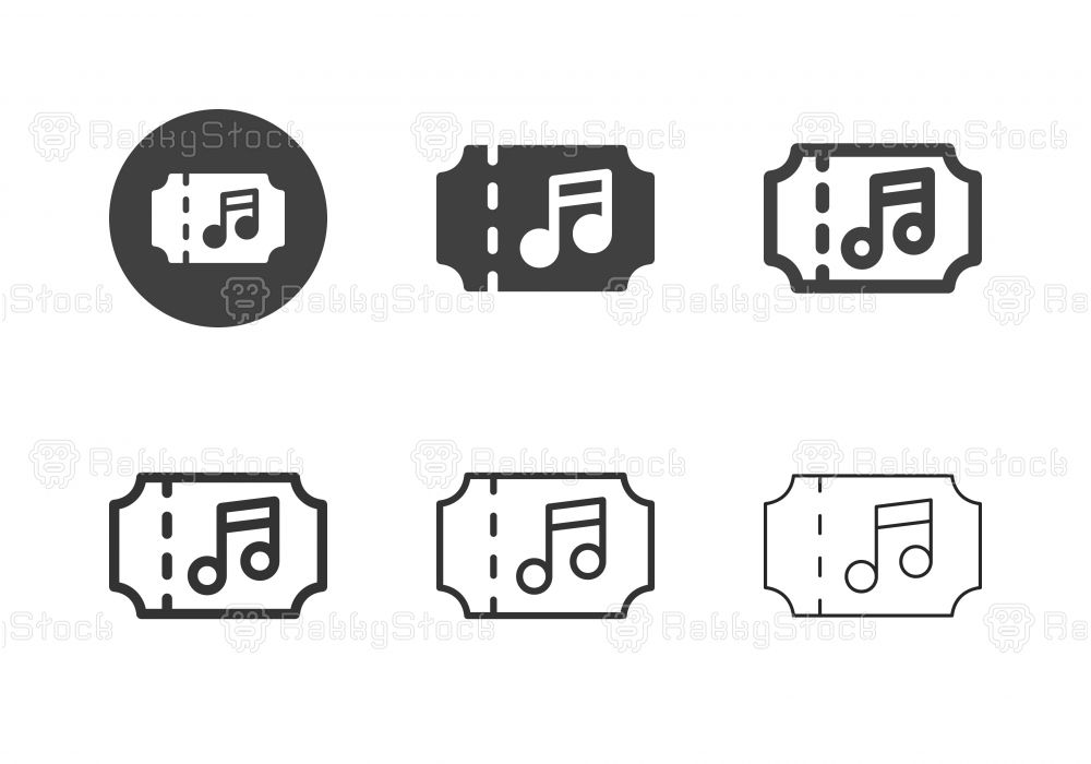 Concert Ticket Icons - Multi Series
