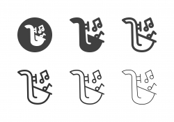 Saxophone Icons - Multi Series