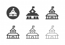 School Building Icons - Multi Series