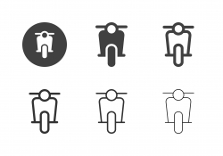 Motor Scooter Icons - Multi Series