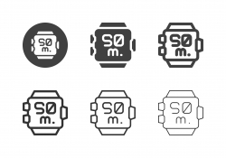 Scuba Diving Watch Icons - Multi Series