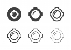 Diving Helmet Icons - Multi Series