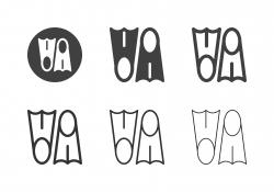 Diving Flipper Icons - Multi Series