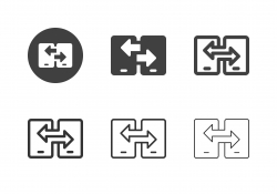 Mobile Data Transfer Icons - Multi Series