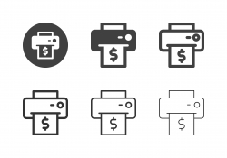 Printed Financial Bill Icons - Multi Series