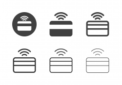 Credit Card Online Icons - Multi Series