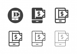 Mobile Online Payment Icons - Multi Series