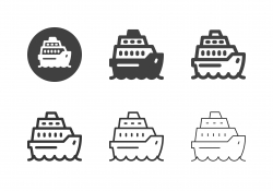Cruise Ship Icons - Multi Series
