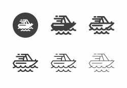 Jet Boat Icons - Multi Series