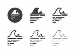 Sea Wave Icons - Multi Series