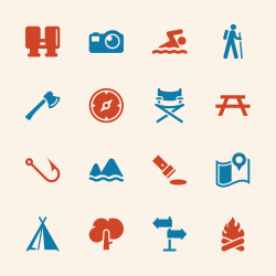 Camping and Outdoors Icons - Color Series | EPS10
