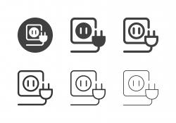 Electric Plug Icons - Multi Series