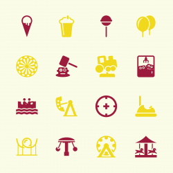 Theme Park Icons - Color Series | EPS10
