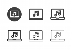 Music Streaming Icons - Multi Series
