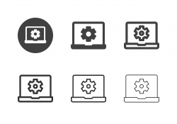 Laptop Setting Icons - Multi Series