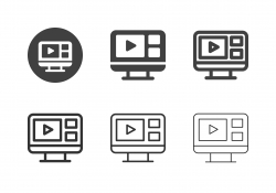 Web Based Broadcasting Icons - Multi Series