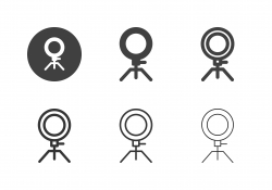 Selfie Ring Light Icons - Multi Series