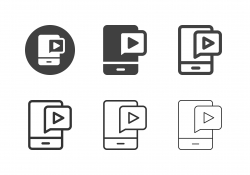 Mobile Video Content Icons - Multi Series