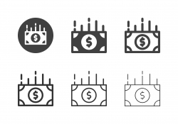 US Paper Currency Icons - Multi Series
