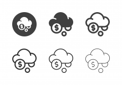 Cloud Currency System Icons - Multi Series