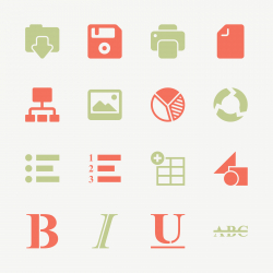 Document Editor Tool Icons - Color Series | EPS10