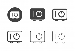 Safe Box Icons - Multi Series