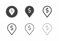 Money Location Icons - Multi Series