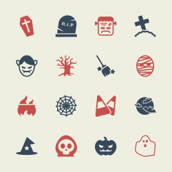 Halloween Icons - Color Series | EPS10