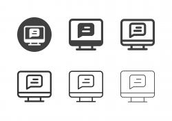 Online Messaging Icons - Multi Series