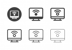 Wireless Connecting Icons - Multi Series