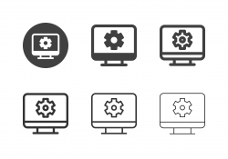 Desktop PC Setting Icons - Multi Series