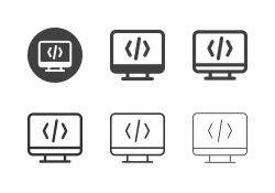 Computer Coding Icons - Multi Series