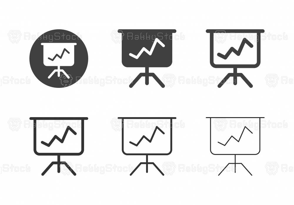 Graph Board Stand Icons - Multi Series