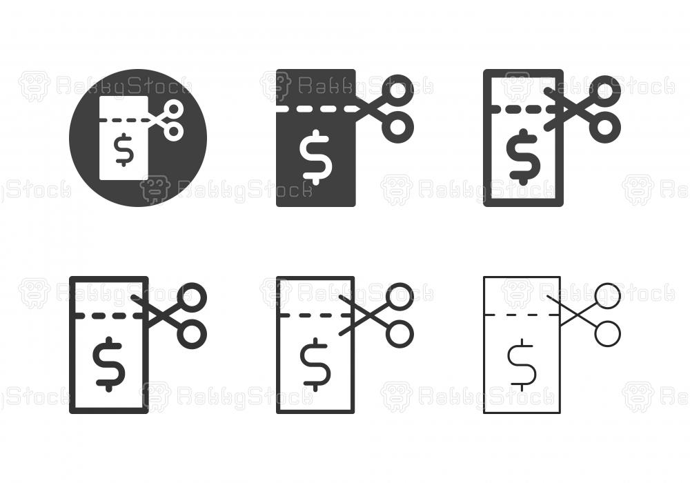 Money Coupon Icons - Multi Series
