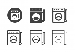 Washing Machine Icons - Multi Series