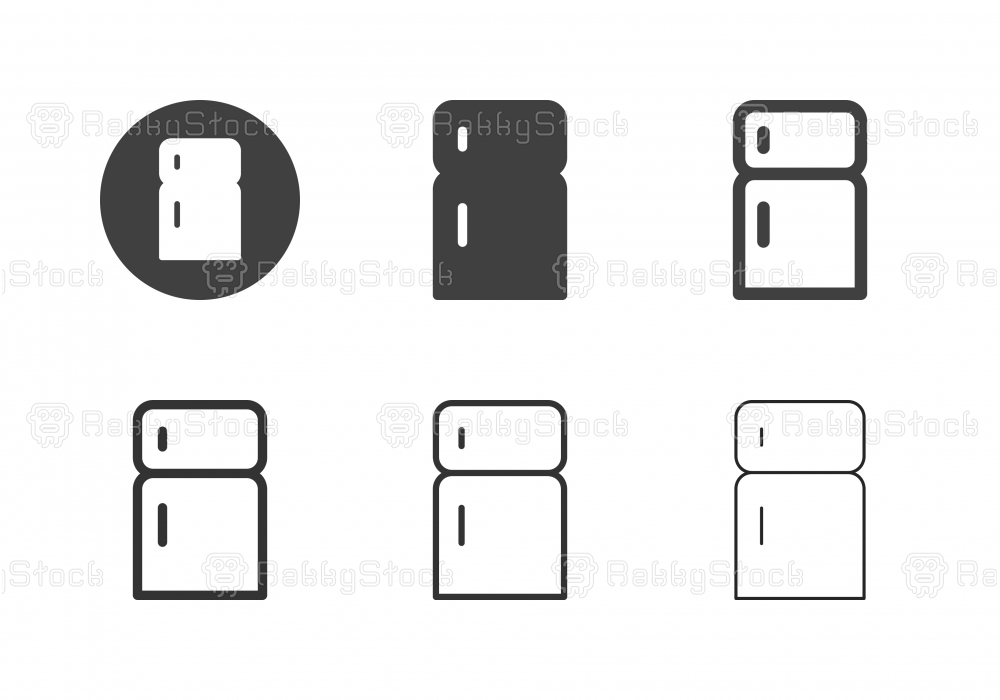 Refrigerator Icons - Multi Series