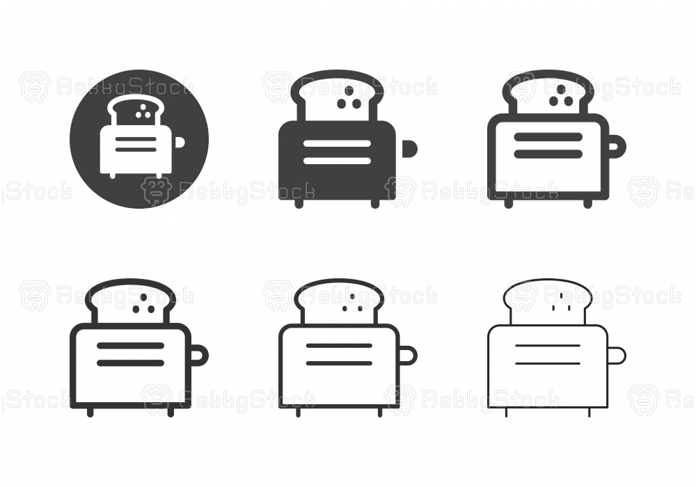 Toaster Icons - Multi Series
