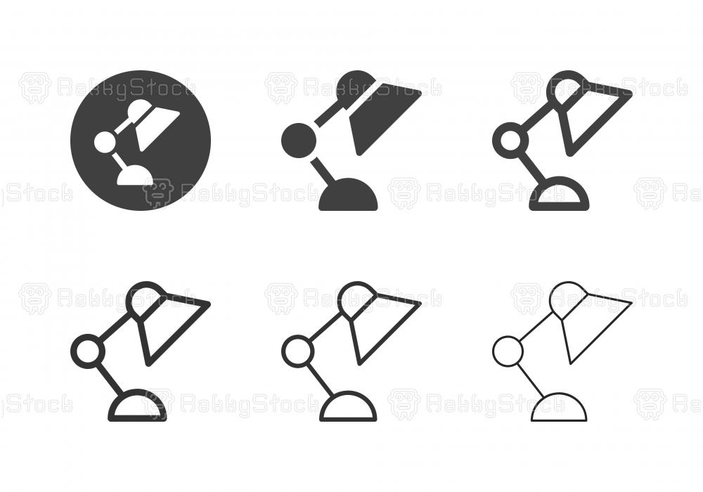 Desk Lamp Icons - Multi Series