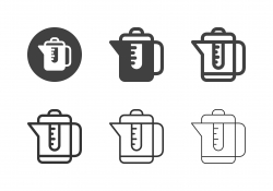 Electric Kettle Icons - Multi Series